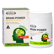 Brain Power Ginkgo plus DHA 1450mg 100 caps