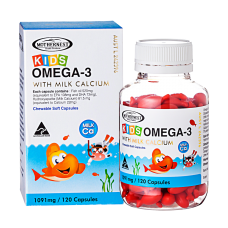Kids Omega 3 + Milk Calcium 120 caps