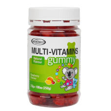 Gummy Multivitamins raspberry flavour 2.5g x 100 gummies 250g