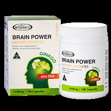 Brain Power Ginkgo plus DHA 1450mg 100 caps